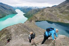 Besseggen, Jotunheimen National Park, Norway.