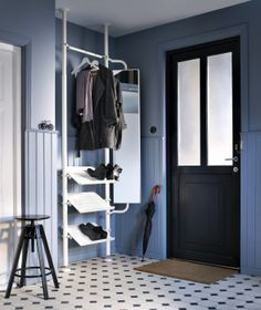 More than just a coat rack, the STOLMEN system can also organize your shoes and offer a handy mirror for a last minute look as you head out the door.