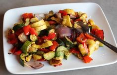Roasted Veggies: Zuchinni, Squash, Red Pepper, and Onions | The Defined Dish