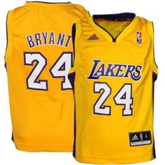 adidas Kobe Bryant Los Angeles Lakers Preschool Replica Jersey - Gold  Bryant Home 4364f243f