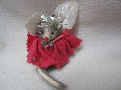 "Vintage Original Fur Toys Germany Miniature Fairy Godmother Mouse 2"" Little Mous | eBay"