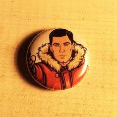 Archer 1 inch handmade pinback button  Sterling by CuttinButtons