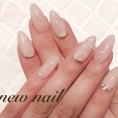 The 83 light-colored nails below are suitable for different occasions. If you are a bride, you can choose a type of single-set bright diamond … in 202 Fancy Nails, Pink Nails, Cute Nails, Pretty Nails, Simple Gel Nails, Diy Nails Manicure, Light Colored Nails, Asian Nails, Finger