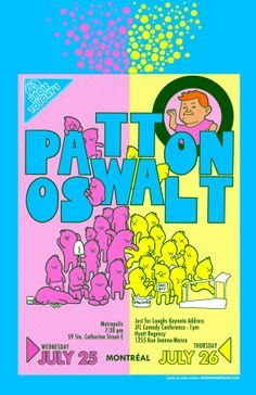 Image of PATTON OSWALT Nerds poster - Montreal July 25 & 26 2012