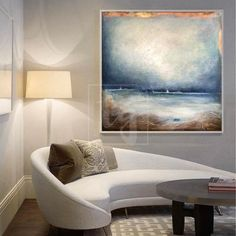 Sea Wall Artwork Abstract Seascape Paintings On Canvas Ocean Abstract Painting | OCEAN OF OBLIVION Wall Artwork, Ocean Painting, Brown Painting, Abstract Painting, Abstract, Sunset Painting, Canvas Painting, Seascape Paintings, Blue Abstract Painting