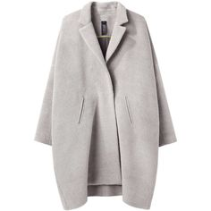 Zero + Maria Cornejo Lab Coat (59,840 MKD) ❤ liked on Polyvore featuring outerwear, coats, jackets, coats & jackets, fur-lined coats, double breasted coat, long sleeve coat, drape coat and oversized coat