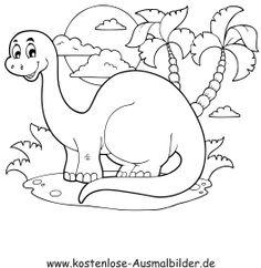 ausmalbild dinosaurier und steinzeit: springender dinosaurier kostenlos ausdrucken | dinosaurier