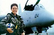 Lt. Kara Hultgreen, the Navy's first fully qualified female fleet fighter pilot, was only 29 when her Tomcat slammed into the Pacific Ocean in 1994 - sadly making her the first woman combat pilot to die in service. Although 31 male pilots have died in Tomcat accidents much ado was made over Lt Hultgreen's accident. From http://userpages.aug.com/captbarb/firsts.html