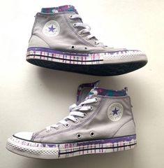 Converse Grey Purple Womens Shoe sz 5 on Mercari Converse Fashion, Converse Style, Converse Chuck, Sneakers Fashion, Deodorant, Trainers, Youth, Zip, Gray