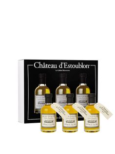 Olive Oil Lovers - Chateau d'Estoublon Apothecary EVOO AOP Gift Set, $69.95 (http://oliveoillovers.com/chateau-destoublon-apothecary-evoo-aop-gift-set/)