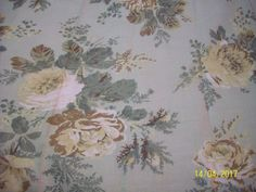 HOME CLASSICS  HEIRLOOM CURTAIN  SET NEW 42X84 GREEN FLORAL ROSE 100% COTTON NEW