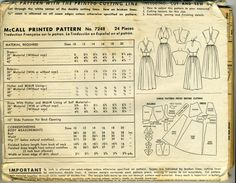 Vintage 40s McCalls 7248 Misses UNCUT Pinup Shaped Midriff