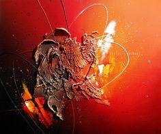 Eridani - tableau abstrait contemporain peinture acrylique en relief rouge noir doré orange blanc jaune : Par tableaux-abstraits-nathalie-robert. #abstractart #abstract #abstractpainting #abstractcanvas #contemporaryart #contemporarypainting #abstrait #peintureabstrait #tableauxmoderne #canvastraditional #acrylic #acrylique #acrylicpainting #peintureacrylique #abstracttexture #canvas #canvastexture #modernart #modernpainting #peinturemoderne #tableauabstrait #abstractsurreal #alittlemarket