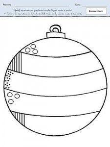 Termine les décorations de la boule de Noël Activités Noël maternelle