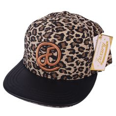 FLAT FITTY - Cheetah tan 5 panel snapback kšiltovka