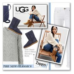 """The Icon Perfected: UGG Classic II Contest Entry"" by kellylynne68 ❤ liked on Polyvore featuring rag & bone, UGG, Lanvin, Céline Lefébure, UGG Australia, ugg, contestentry, zappos and TheNewClassics"