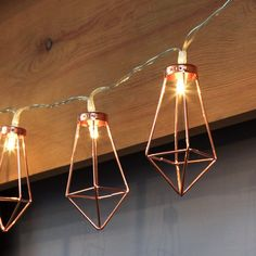 Retro Iron Metal Diamond LED Fairy String Lights Battery Xmas Holiday Wedding Party Home Decoration Lantern String Lamps