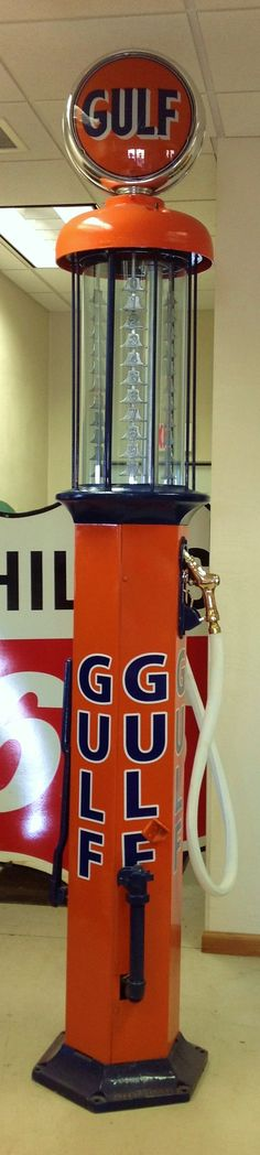 1920's Gulf Gas Pump- check it out at vintagegallery.com