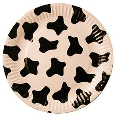 Birthday and Party Items - Cowprint plates!!!!! #cowboy #cowgirl