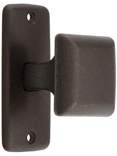 Mission Square Cabinet Knob With Rectangular Backplate -- to coordinate with bin pulls on drawers