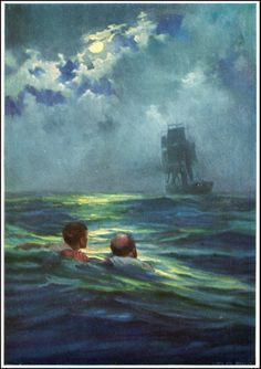Anton Otto Fischer  1882 ~ 1962  Twenty Thousand Leagues Under the Sea  by Jules Verne  Published by John C. Winston ~ 1932