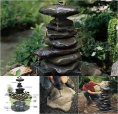 Beautiful DIY Zen Water Fountain ...........DON'T MISS OUT!! .....FOLLOW DIY Fun Ideas for tons more amazing DIYs!