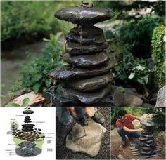 Beautiful DIY Zen Water Fountain ...........DON'T MISS OUT!! .....FOLLOW DIY Fun Ideas for tons more amazing DIYs!