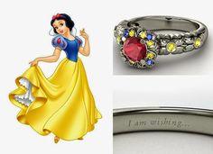 Anéis e alianças de princesas