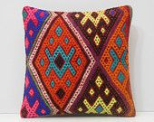 orange turkish pillow red couch pillow blue kilim pillow pink floor pillow cover DECOLIC navy floor cushion cover outdoor pillow cover 16368