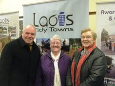 Cllr John Joe Fennelly, Cathaoirleach Laois County Council pictured with Noreen Byrne (Chair) and Julia Booth (Vice Chair) of Laois Federation of Tidy Towns.