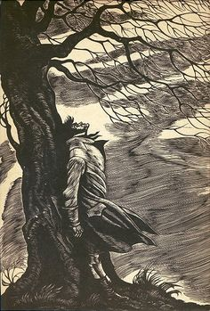Fritz Eichenberg, 1943. Illustration for Wuthering Heights, wood engraving.