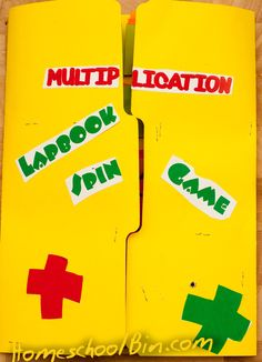 Multiplication Facts Game Lapbook