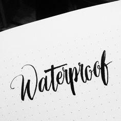 Waterproof #calligrafikas #brushpen