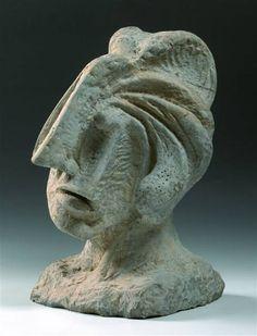 Emil Filla - Head (1935) #sculpture #art #Czechia #CzechArt
