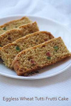 Eggless Wheat Tutti Frutti Cake Recipe - Vegan Whole Wheat Cake Recipe - Christmas Cake Recipes | Indian Cuisine