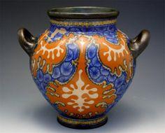 Gouda Art Pottery Handled Vase