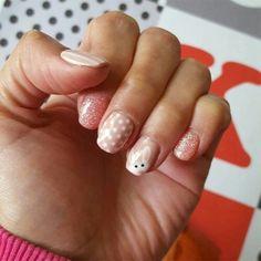 Bunny Nails, Easter Nail Art, Nail Polish Colors, Cute Bunny, Spring Nails, Hair And Nails, Manicure, Polka Dots, Stripes