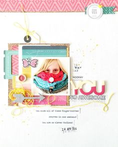 You layout for Jot Magazine moodboard - love the layers and colors!