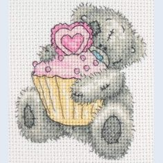 Cupcake - Tatty Teddy - Me to You - counted cross stitch kit Coats Crafts