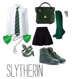 """Slytherin Outfit"" by kusjenaomii on Polyvore featuring mode, Misha Nonoo, Dorothy Perkins, Balenciaga, Miss Selfridge en Pamela Love"