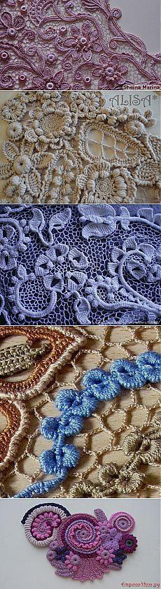 exquisitas puntillas en crochet