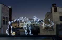 LED light paintings by Darren Pearson.