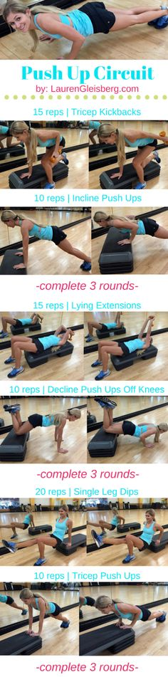 Day 33: Push Up Circuit Workout for the Upper Body | #LGKickStartFit 2015 Health & Fitness Challenge by LaurenGleisberg.com