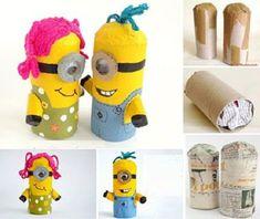 24 ideas craft summer kids toilet paper for 2019 Toilet Roll Craft, Toilet Paper Roll Art, Kids Toilet, Creative Crafts, Kids Crafts, Crafts To Make, Minion Birthday, Minion Party, Minion Surprise