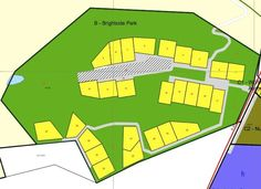 layout of Brightside stands, all 1 ha sites within 100ha security estate