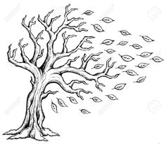 Wind Blowing Trees Drawing Trees blowing | Wind | Pinterest | Tree Drawings…