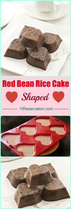 Heart Shaped Red Bean Rice Cake is easy and fun to make and perfect to serve as a lovely valentine's day snack. This cake is based on traditional Chinese rice cake with a slight twist.