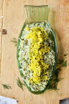 Sabzi Polo - Persian herb rice with butter-saffron rice crust - Labsallove - Sabzi means herbs and polo rice. Delicate fresh herbs are the first signs of spring and in my Sabzi - Beef And Rice, Beef And Noodles, Beef Tapa, Basmati Rice Recipes, Saffron Rice, Creamy Tomato Sauce, Rice Recipes For Dinner, Cilantro Lime Rice, Dinner Ideas