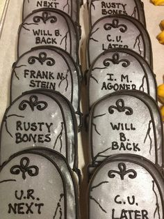 Tombstone cookies by BennysBakeryCakes, via Flickr Yes, we ship cookies…
