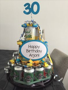 Biertaart / Beer cake for 30th birthday party